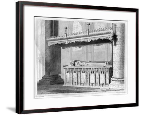 Tomb of Henry IV and His Queen Joan of Navarre in Canterbury Cathedral, 1825-John Le Keux-Framed Art Print