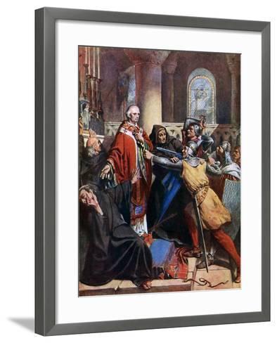 Death of Becket, 1170-John Cross-Framed Art Print