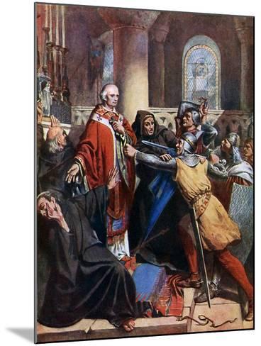 Death of Becket, 1170-John Cross-Mounted Giclee Print