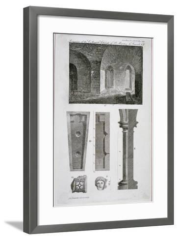 Interior View of the Remains of the Church of St Martin's Le Grand, City of London, 1818-John Chessell Buckler-Framed Art Print