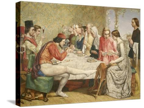 Isabella, 1849-John Everett Millais-Stretched Canvas Print