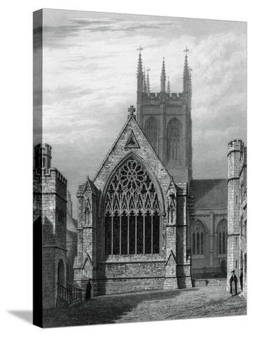 Merton College Chapel, from the Quadrangle, Oxford, 1834-John Le Keux-Stretched Canvas Print