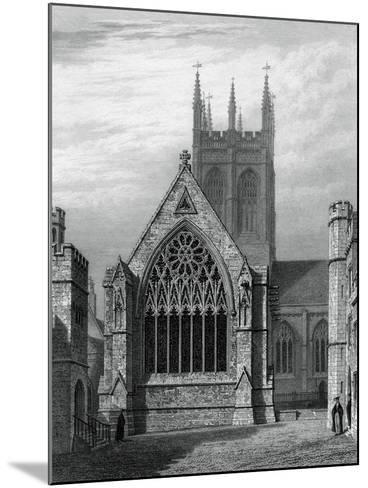 Merton College Chapel, from the Quadrangle, Oxford, 1834-John Le Keux-Mounted Giclee Print