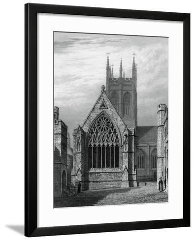 Merton College Chapel, from the Quadrangle, Oxford, 1834-John Le Keux-Framed Art Print