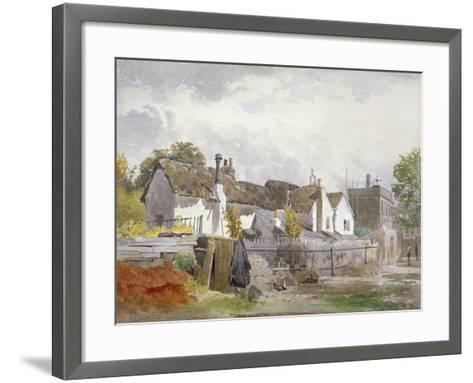 Sindercombe's Cottage, Shepherd's Bush, Hammersmith, London, 1890-John Crowther-Framed Art Print