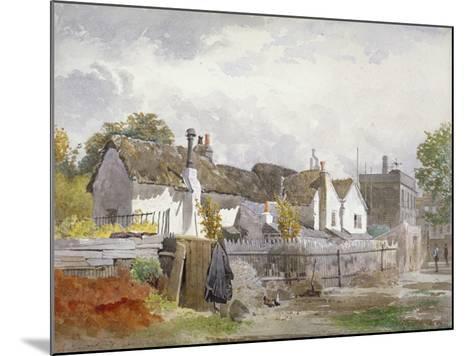 Sindercombe's Cottage, Shepherd's Bush, Hammersmith, London, 1890-John Crowther-Mounted Giclee Print