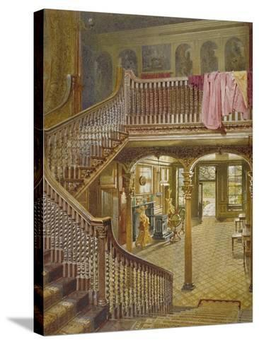 Staircase at Wandsworth Manor House, St John's Hill, Wandsworth, London, 1887-John Crowther-Stretched Canvas Print