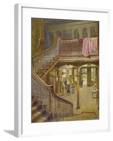 Staircase at Wandsworth Manor House, St John's Hill, Wandsworth, London, 1887-John Crowther-Framed Art Print
