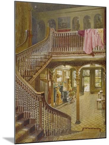 Staircase at Wandsworth Manor House, St John's Hill, Wandsworth, London, 1887-John Crowther-Mounted Giclee Print