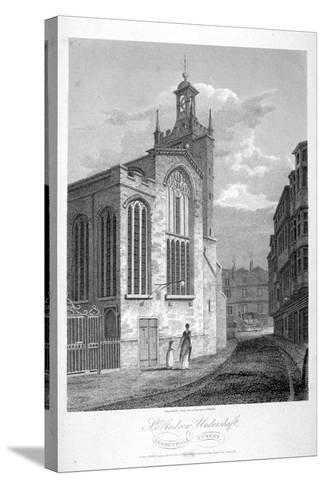 Church of St Andrew Undershaft, Leadenhall Street, London, 1804-John Greig-Stretched Canvas Print