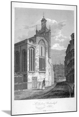 Church of St Andrew Undershaft, Leadenhall Street, London, 1804-John Greig-Mounted Giclee Print
