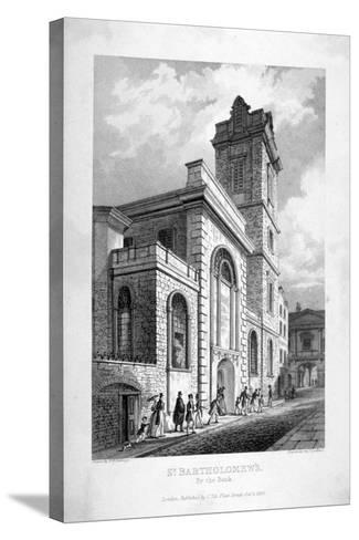 St Bartholomew-By-The-Exchange, City of London, 1837-John Le Keux-Stretched Canvas Print