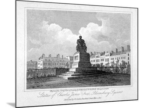View of the Statue of Charles James Fox in Bloomsbury Square, Bloomsbury, London, 1817-John Greig-Mounted Giclee Print
