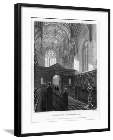 Brazen Nose (Brasenos) College Chapel, Oxford University, 1835-John Le Keux-Framed Art Print