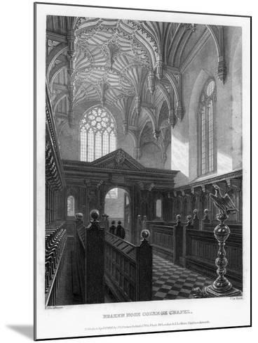Brazen Nose (Brasenos) College Chapel, Oxford University, 1835-John Le Keux-Mounted Giclee Print