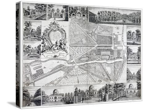 Map of Chiswick in the London Borough of Hounslow, 1736-John Rocque-Stretched Canvas Print