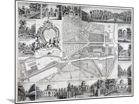 Map of Chiswick in the London Borough of Hounslow, 1736-John Rocque-Mounted Giclee Print