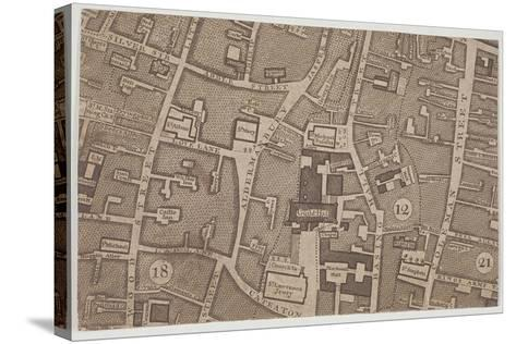 Plan of Guildhall and the Neighbourhood around Guildhall, London, 1747-John Rocque-Stretched Canvas Print