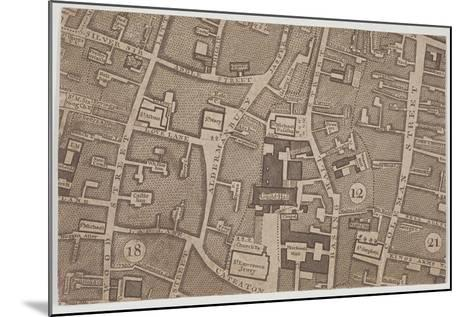 Plan of Guildhall and the Neighbourhood around Guildhall, London, 1747-John Rocque-Mounted Giclee Print