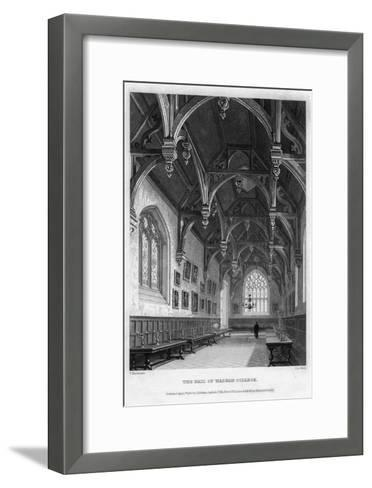 The Hall of Wadham College, Oxford University, 1836-John Le Keux-Framed Art Print