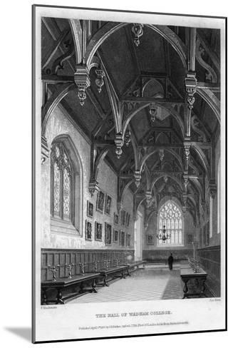 The Hall of Wadham College, Oxford University, 1836-John Le Keux-Mounted Giclee Print