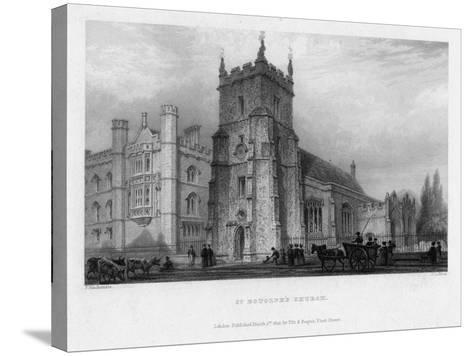 St Botolph's Church, Boston, Lincolnshire, 1842-John Le Keux-Stretched Canvas Print