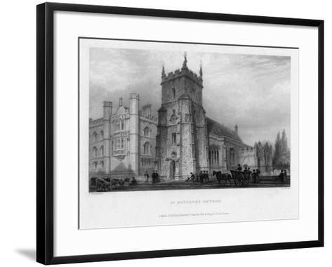 St Botolph's Church, Boston, Lincolnshire, 1842-John Le Keux-Framed Art Print