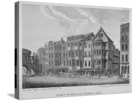 Fleet Street, City of London, 1799-John Roffe-Stretched Canvas Print