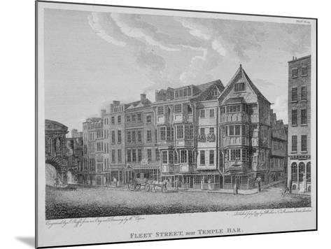 Fleet Street, City of London, 1799-John Roffe-Mounted Giclee Print