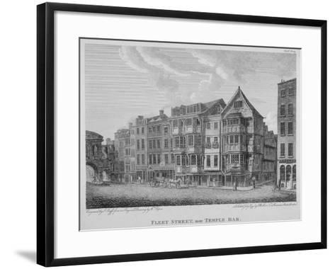 Fleet Street, City of London, 1799-John Roffe-Framed Art Print