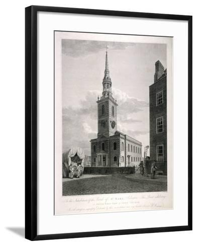 St Mary, Islington, London, 1793-John Roffe-Framed Art Print