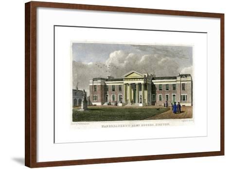 Haberdasher's Alms Houses, Hoxton, Hackney, London, 1828-John Rolph-Framed Art Print