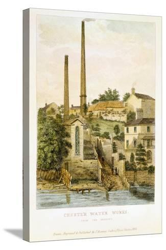 Chester Water Works, from the Fields, 1852-John Romney-Stretched Canvas Print