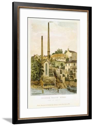 Chester Water Works, from the Fields, 1852-John Romney-Framed Art Print