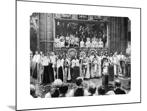 Coronation Ceremony of George V, Westminster Abbey, London, 22 June, 1911-John Benjamin Stone-Mounted Giclee Print
