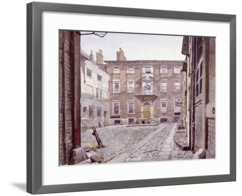 Sir Christopher Wren's House, Botolph Lane, London, 1886-John Crowther-Framed Art Print