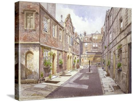 View of Almshouses in Cock Court, Jewry Street, City of London, 1886-John Crowther-Stretched Canvas Print