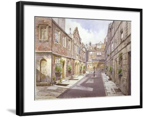 View of Almshouses in Cock Court, Jewry Street, City of London, 1886-John Crowther-Framed Art Print