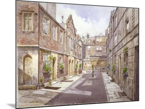 View of Almshouses in Cock Court, Jewry Street, City of London, 1886-John Crowther-Mounted Giclee Print