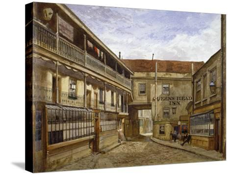 The Queen's Head Inn, Borough High Street, Southwark, London, 1880-John Crowther-Stretched Canvas Print