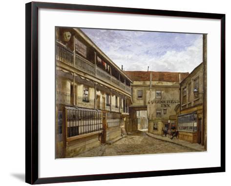 The Queen's Head Inn, Borough High Street, Southwark, London, 1880-John Crowther-Framed Art Print
