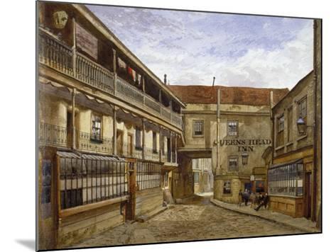 The Queen's Head Inn, Borough High Street, Southwark, London, 1880-John Crowther-Mounted Giclee Print