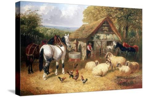 Farmyard Scene, (C1840-C1900)-John Frederick Herring II-Stretched Canvas Print
