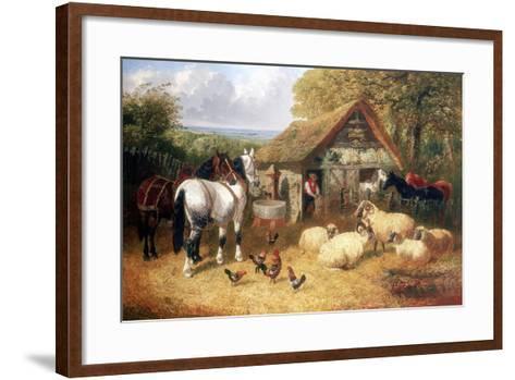 Farmyard Scene, (C1840-C1900)-John Frederick Herring II-Framed Art Print