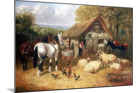 Farmyard Scene, (C1840-C1900)-John Frederick Herring II-Mounted Giclee Print