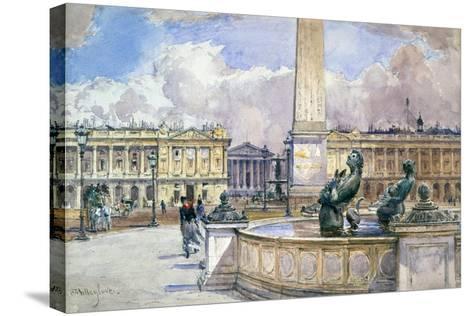 Place De La Concorde, 1847-1908-John Fulleylove-Stretched Canvas Print