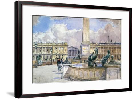 Place De La Concorde, 1847-1908-John Fulleylove-Framed Art Print