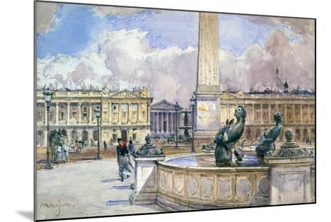 Place De La Concorde, 1847-1908-John Fulleylove-Mounted Giclee Print