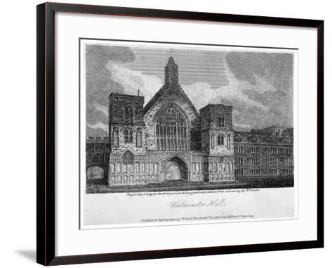Westminster Hall from New Palace Yard, London, 1809-John Greig-Framed Art Print
