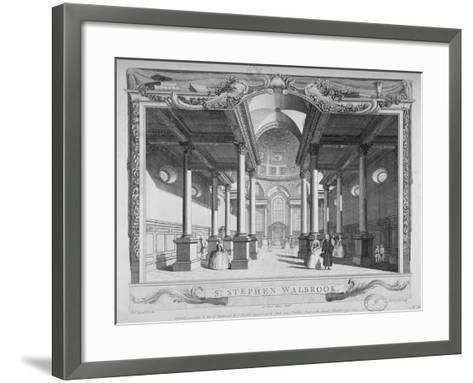 Interior View Looking East, Church of St Stephen Walbrook, City of London, 1750-John Boydell-Framed Art Print